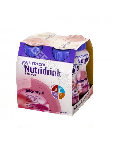 NUTRICIA Nutridrink juice style o smaku truskawkowym 4 x 200 ml
