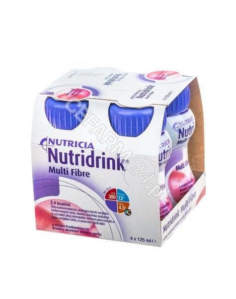 NUTRICIA Nutridrink multi fibre truskawkowy 4 x 125 ml