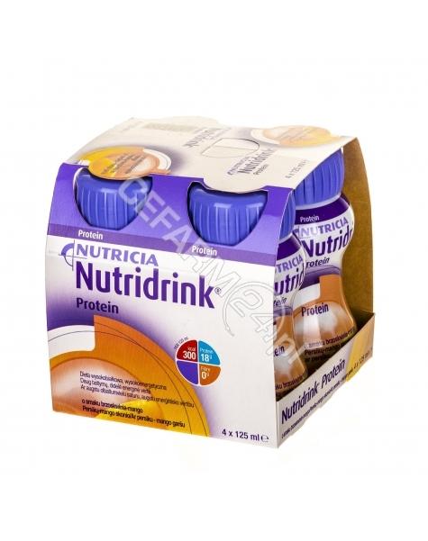 NUTRICIA Nutridrink protein o smaku brzoskwinia - mango 4 x 125 ml