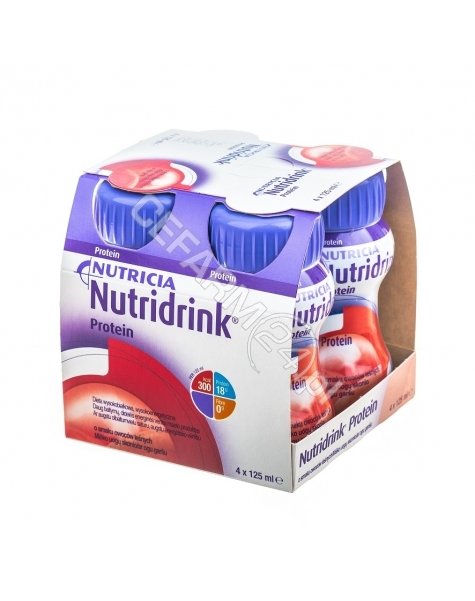 NUTRICIA Nutridrink protein owoce leśne 4 x 125 ml