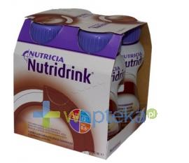 NUTRICIA POLSKA SP. Z O.O. Nutridrink smak czekoladowy płyn 4 x 200 ml