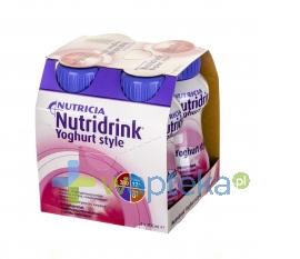NUTRICIA POLSKA SP. Z O.O. Nutridrink Yoghurt Style o smaku malinowym 4 x 200ml