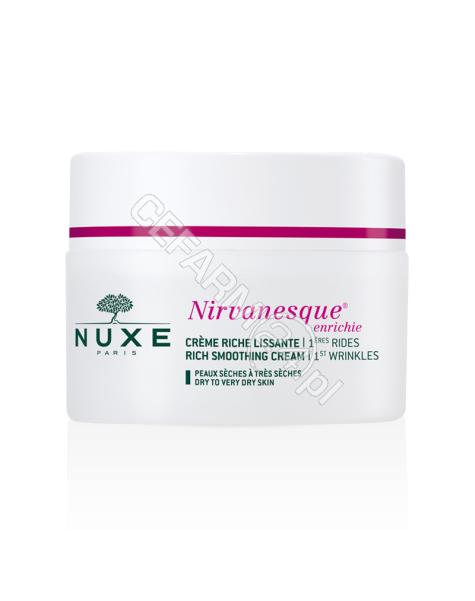 NUXE Nuxe nirvanesque enriche - krem wygładzający pierwsze zmarszczki mimiczne dla skóry suchej i bardzo suchej 50 ml (nowa formuła)