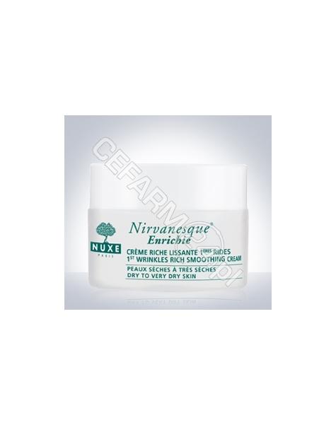 NUXE Nuxe nirvanesque enrichie - krem wygładzający pierwsze zmarszczki mimiczne dla skóry suchej i bardzo suchej 50 ml (nowa formuła) + krem pod oczy 15 ml GRATIS !!!
