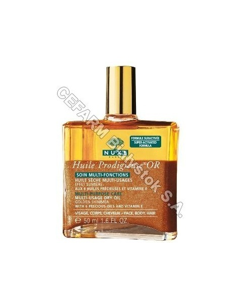NUXE Nuxe prodigieuse huile OR - suchy olejek prodigieuse or ze złotymi drobinkami do wszystkich rodzajów skóry i włosów 50 ml + 2 miniprodukty GRATIS !!!