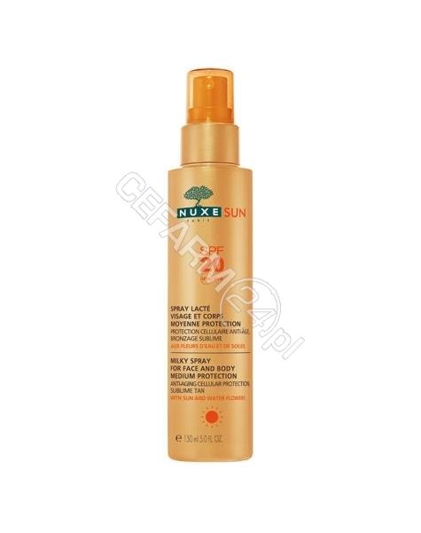 NUXE Nuxe Sun mleczko do opalania twarzy i ciała spf-20 150 ml + Nuxe Sun orzeźwiający balsam po opalaniu 100 ml GRATIS !!!