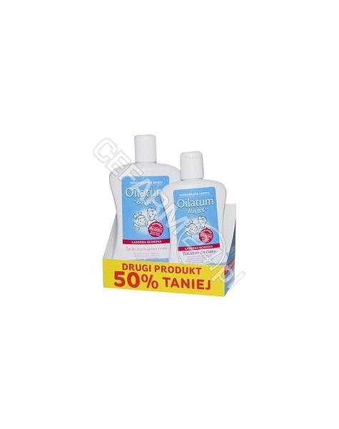 STIEFEL Oilatum baby łagodna ochrona promocyjny zestaw - żel do mycia głowy i ciała 300 ml + balsam do ciała 200 ml