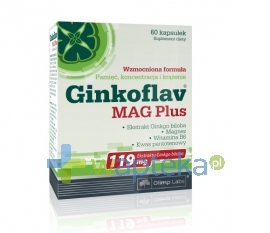 OLIMP Olimp, Ginkoflav Mag Plus, 60 kapsułek