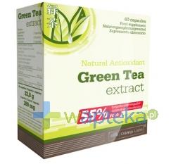 OLIMP LABORATORIES Olimp Green Tea Extract 60 kapsułek 7362 + BALSAM Bluszcz Anti-Cellu 70ml GRATIS