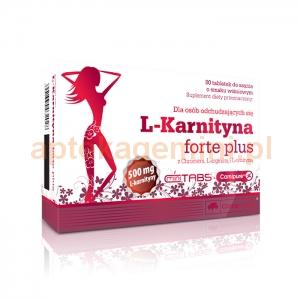 OLIMP Olimp, L-Karnityna Forte Plus, smak wiśniowy, 80 tabletek do ssania