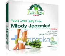OLIMP LABORATORIES OLIMP Młody Jęczmień Premium 30 kapsułek + BALSAM Bluszcz Anti-Cellu 70ml GRATIS