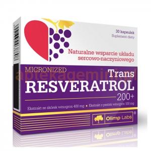 OLIMP Olimp, Trans Resveratrol 200+, 30 kapsułek OKAZJA