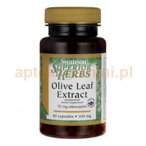 SWANSON Olive Leaf extract 500mg, SWANSON, 60 kapsułek