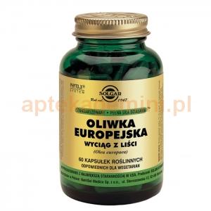 SOLGAR Oliwka europejska, Solgar, 60 kapsułek