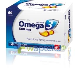 POLFA ŁÓDŹ S.A. Omega-3 500 mg 60 kapsułek Polfa Łódź
