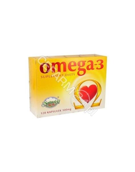 NATURELL Omega-3 500 mg olej z łososia naturell x 120 kaps
