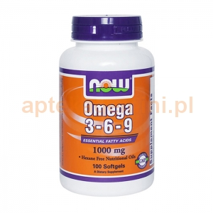 NOW FOODS Omega 3-6-9 1000mg, 100 kapsułek