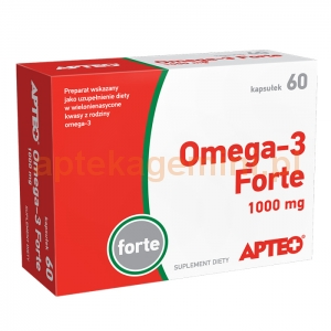 SYNOPTIS PHARMA Omega-3 Forte 1000mg, Apteo, 60 kapsułek