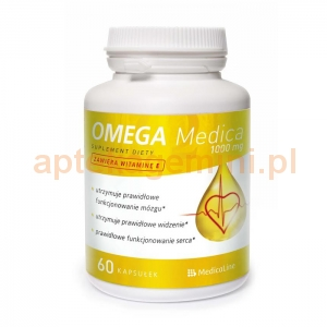 MEDICALINE Omega Medica 1000mg z witaminą E, 60 kapsułek