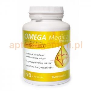 MEDICALINE Omega Medica 1000mg z witaminą E, 90 kapsułek