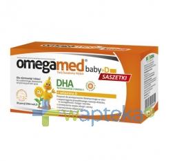 SEQUOIA SP. Z O.O. OMEGAMED Baby D dla niemowląt i dzieci DHA + witamina D 30 saszetek 4957 - Krótka data ważności - do 30-11-2015