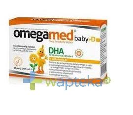 SEQUOIA SP. Z O.O. OMEGAMED Baby DHA + wit D dla niemowląt i dzieci 30 kaps