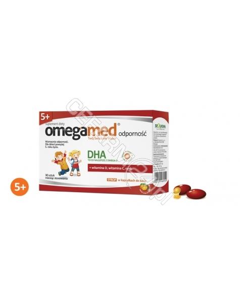 SEQUOIA Omegamed odporność 5+ syrop w kapsułkach x 30 kaps