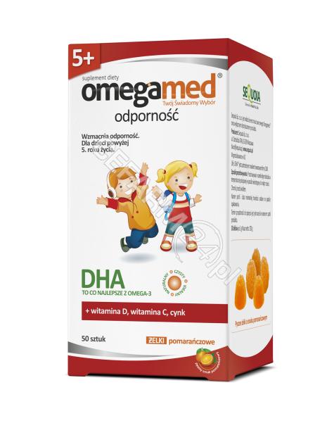 SEQUOIA Omegamed odporność 5+ żelki pomarańczowe x 50 szt