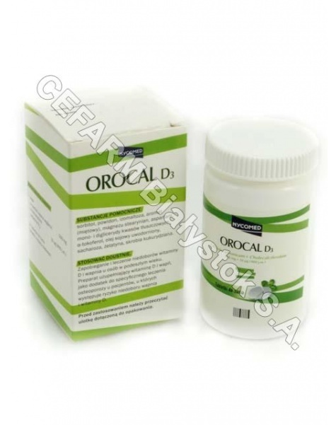 NYCOMED PHAR Orocal d3 500 mg+10 mcg x 30 tabl do żucia