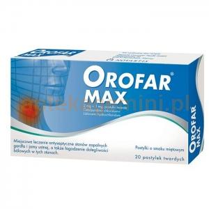 NOVARTIS CONSUMER HEALTH SA Orofar MAX 20 pastylek