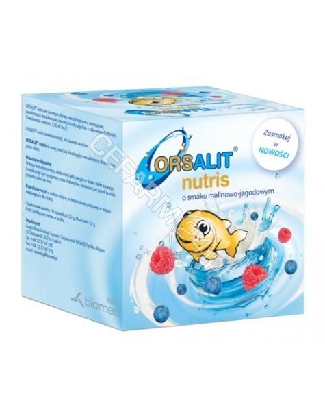 BIOMED KRAKÓW Orsalit nutris x 10 sasz o smaku jagodowo - malinowym