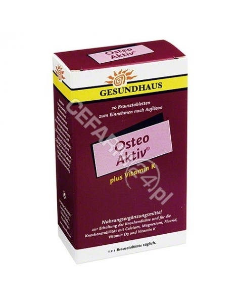 WOERWAG Osteo aktiv 250 mg x 20 tabl musujących