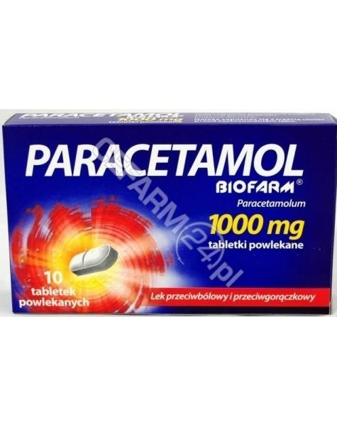 BIOFARM Paracetamol 1000 mg x 10 tabl powlekanych (biofarm)