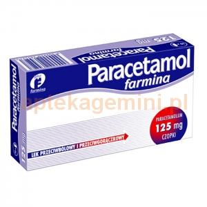 FARMINA Paracetamol Farmina 125mg, czopki, 10 sztuk