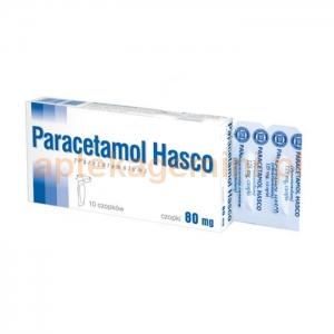 HASCO-LEK Paracetamol Hasco 80mg, czopki, 10 sztuk