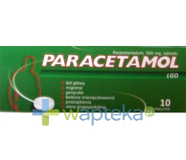 GALENA Paracetamol LGO tabl. 0,5 g 10 tabletek