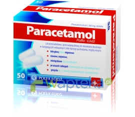 POLFA ŁÓDŹ S.A. Paracetamol Polfa Łodź 500mg 50 tabletek