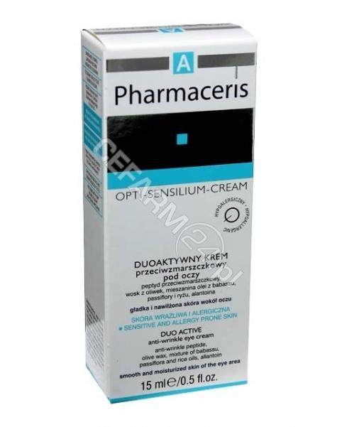 DR IRENA ERIS Pharmaceris A Opti-Sensilium duoaktywny krem przeciwzmarszczkowy pod oczy 15 ml