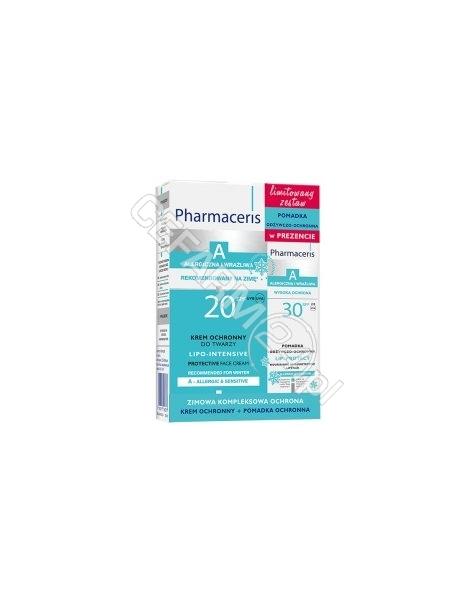 DR IRENA ERIS Pharmaceris A promocyjny zestaw - lipo-intensive - krem ochronny do twarzy spf20 50 ml + pomadka odżywczo - ochronna spf30 GRATIS!!!