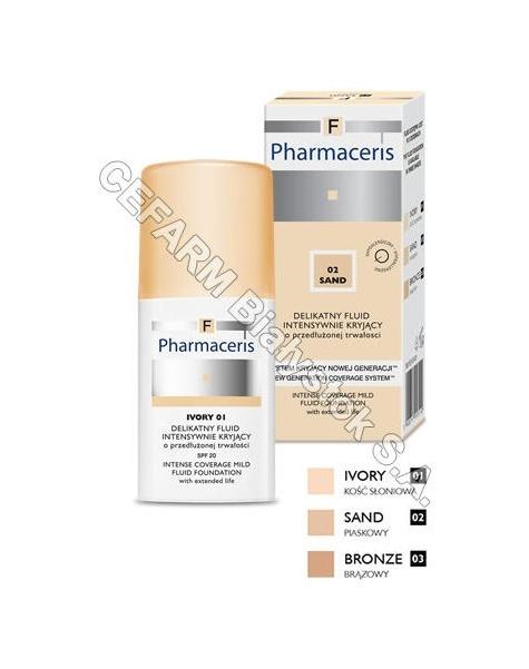 DR IRENA ERIS Pharmaceris f - delikatny fluid intensywnie kryjący o przedłużonej trwałości spf 20 bronze (03 - brązowy) 30 ml
