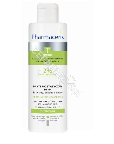 DR IRENA ERIS Pharmaceris T sebo-almond-claris oczyszczający płyn bakteriostatyczny do twarzy, dekoltu i pleców 190 ml