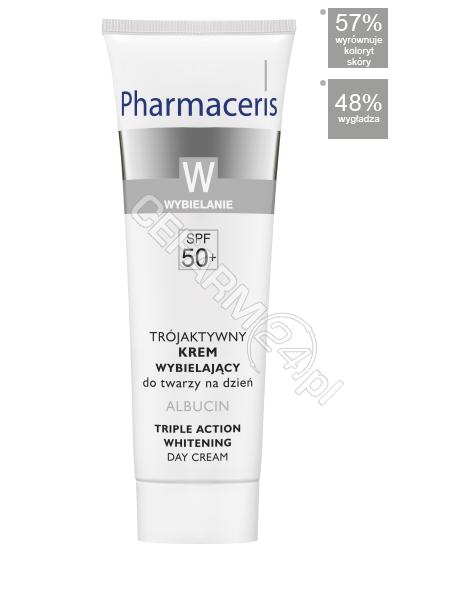 DR IRENA ERIS Pharmaceris W - Albucin - trójaktywny krem wybielający na dzień spf-50+ 30 ml