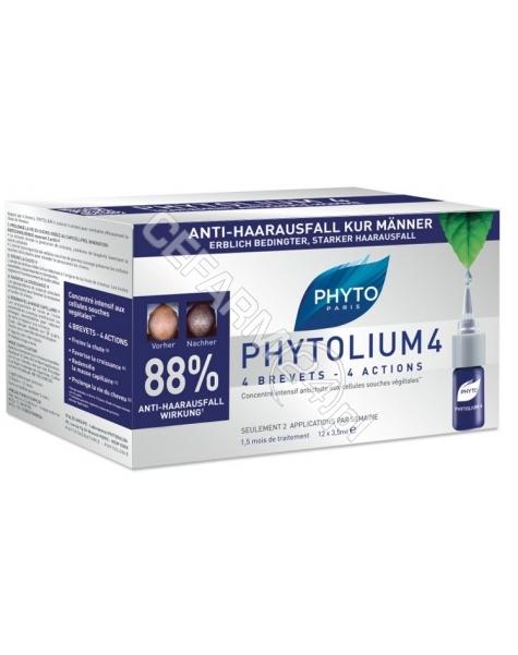 PHYTO Phyto phytolium 4 - kuracja przeciw wypadaniu włosów typu męskiego x 12 amp