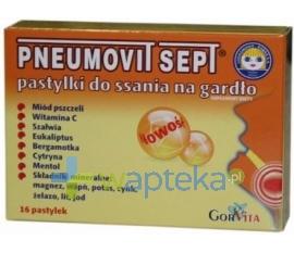 GORVITA PPHU Pneumovit Sept 16 pastylek
