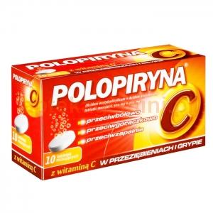 POLPHARMA Polopiryna C 0,5g + 0,2g, 10 tabletek musujących