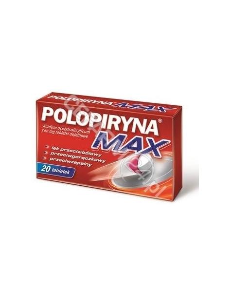 POLPHARMA Polopiryna max 500 mg x 20 tabl dojelitowych