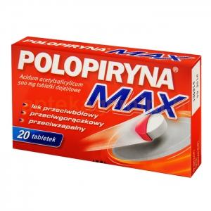 POLPHARMA Polopiryna MAX, 500mg, 20 tabletek dojelitowych