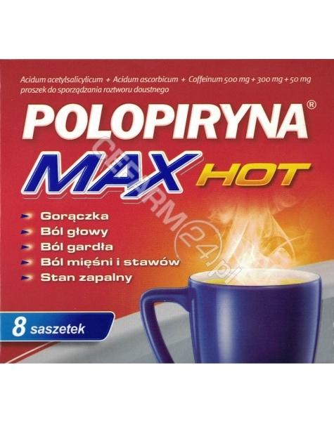 POLPHARMA Polopiryna max hot x 8 sasz
