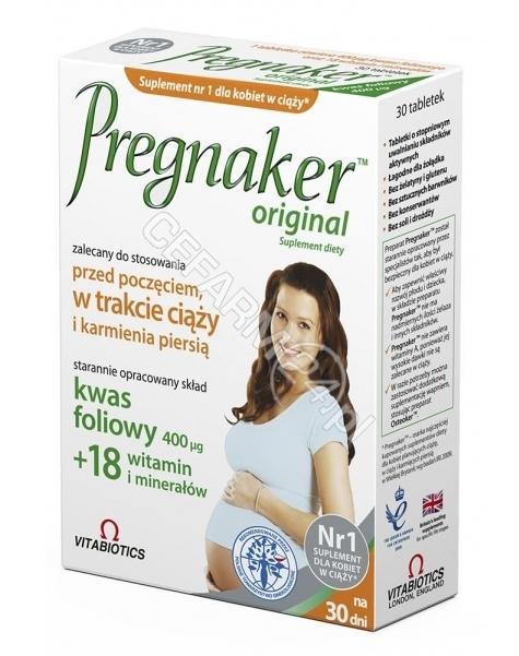 VITABIOTICS Pregnaker (dla kobiet w ciąży) x 30 tabl