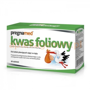 SEQUOIA PREGNAMED, kwas foliowy 0,4mg, 60 tabletek